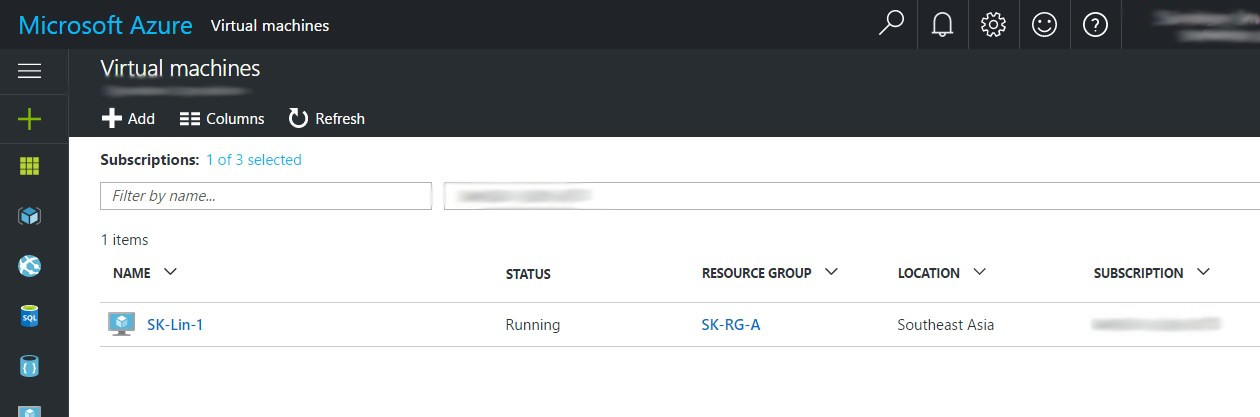 Azure Subscription with VM